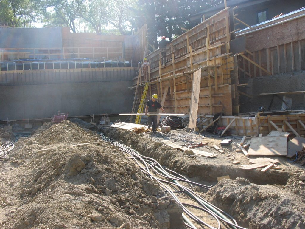 Geothermal job in Calgary for a new home build - Vertical loop
