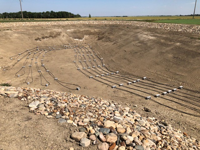 Geothermal for new home build (Casa Verde), east of Lethbridge - Pond loop