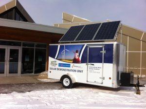 Energy Smart's solar demonstration unit at Helen Schuler Nature Center