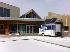 Energy Smart's solar demonstration unit at Helen Schuler Nature Center