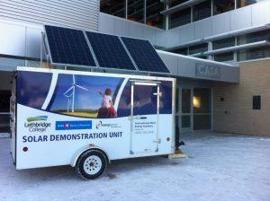 Energy Smart's solar demonstration unit at Casa